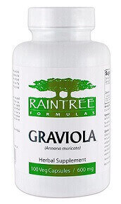 Raintree Formulas Graviola 600mg 100 Veggie Caps - 100% Pure